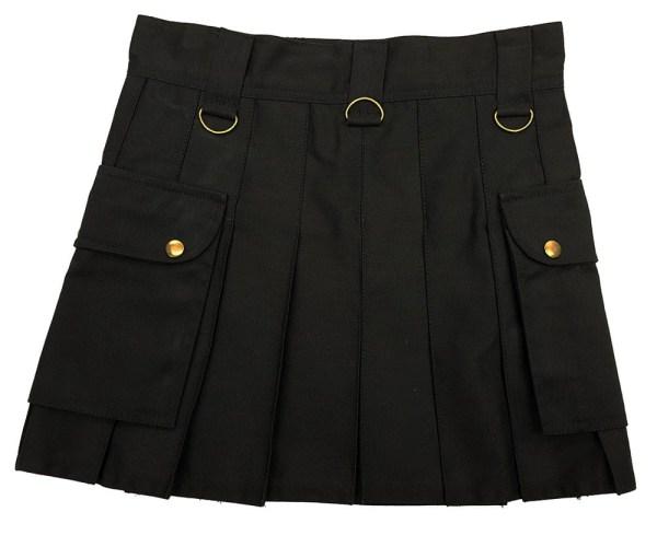 Black Wilderness Mini Skirt Back