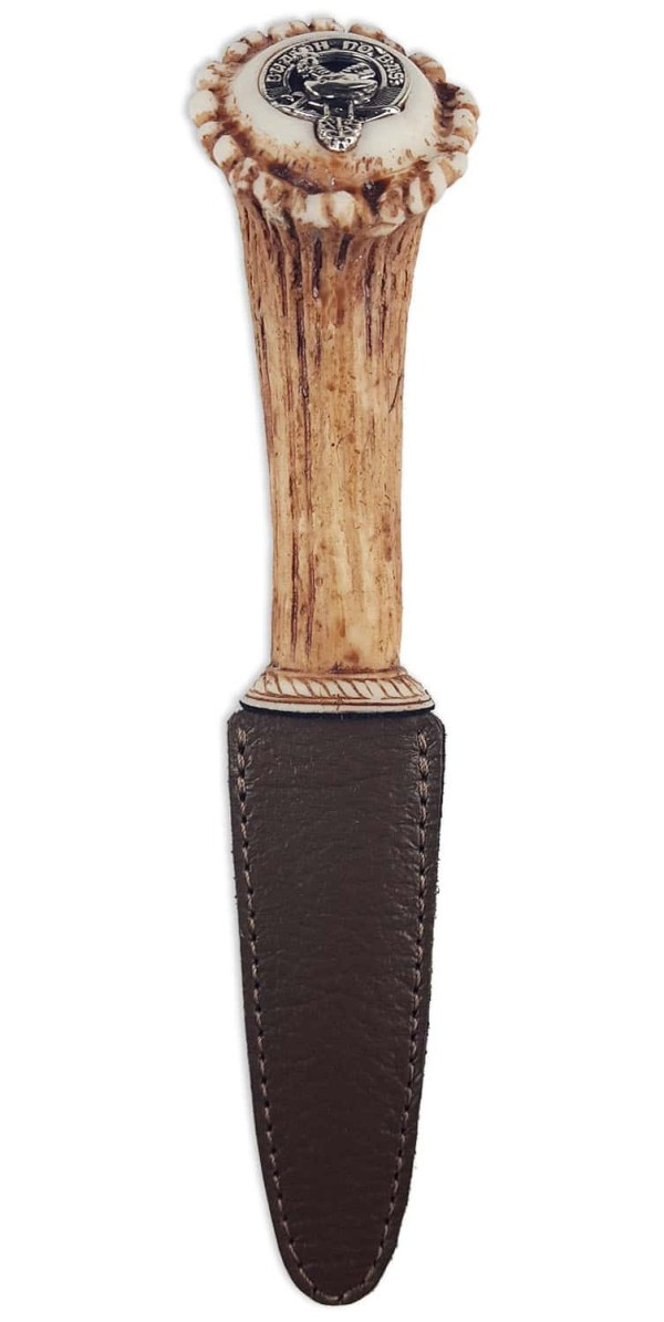 Clan Crest Stag Horn Sgian Dubh