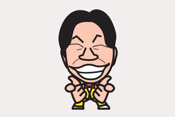 ダンディ坂野の似顔絵画像