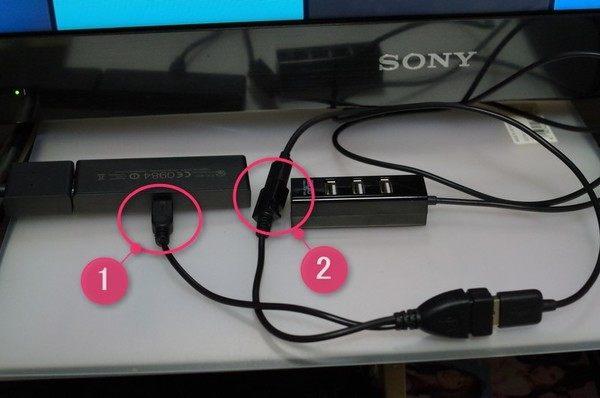 Fire TV Stick OTGケーブルでUSB機器を接続