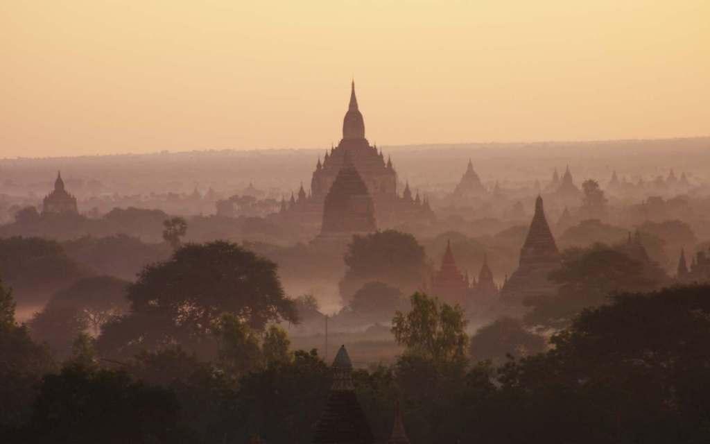 Morning in Old Bagan, Myanmar.
