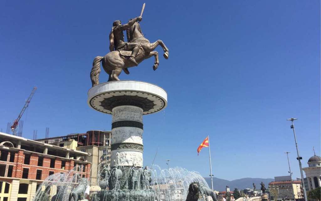 The Horse Warrior in Skopje, North Macedonia