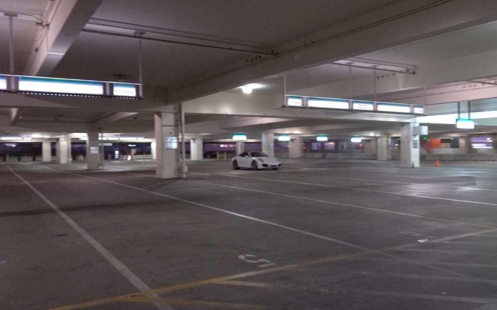 Empty parking garage at Alamo Rent a car, Phoenix Sky Harbor International Airport