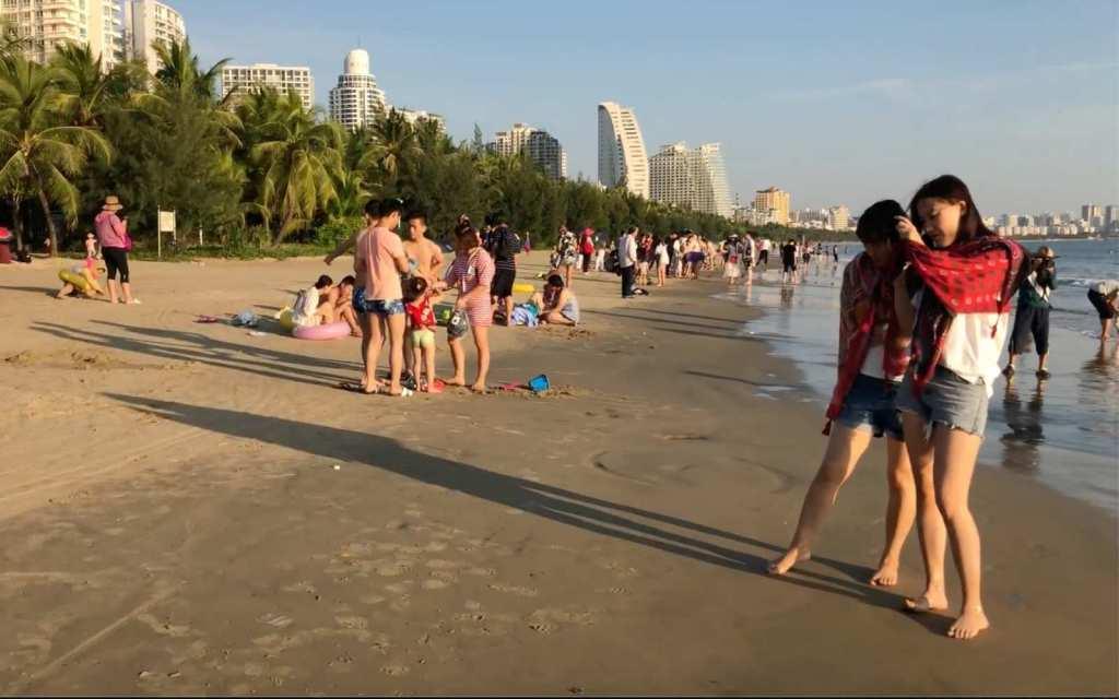On the beach in Sanya, Hainan, China