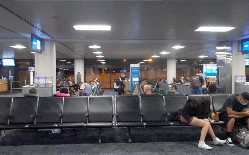 Waiting to board at Sky Harbor International Airport