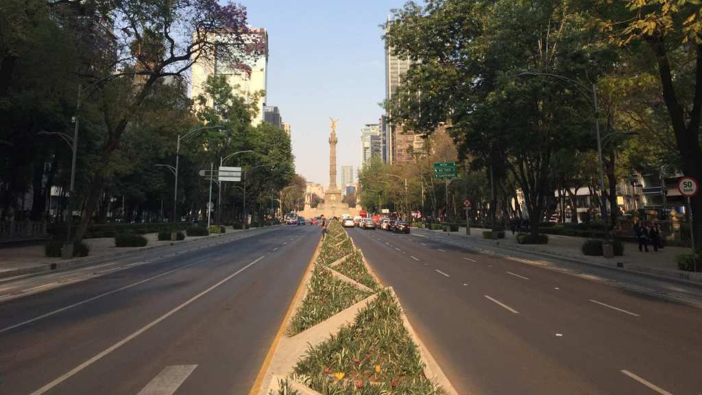 A typical road in Mexico City, Mexico