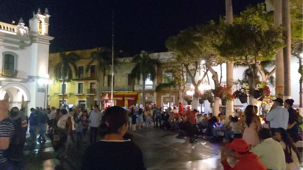Vera Cruz, Mexico main square New Year's Eve