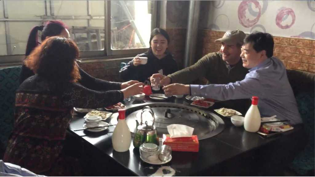 Dinner with a family in Xingtai, China