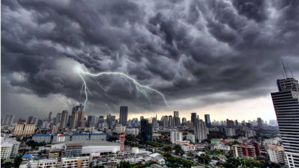 Storm over Bangkok, Thailand