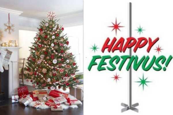 Christmas tree and Festivus Pole