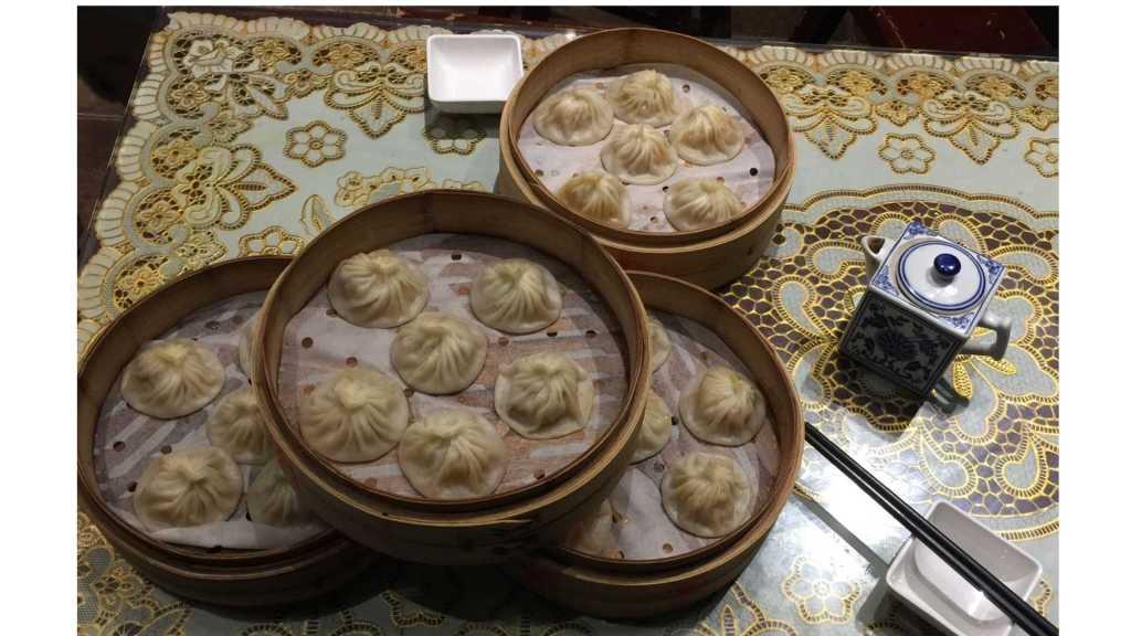 Soup filled dumplings in Jinan, China