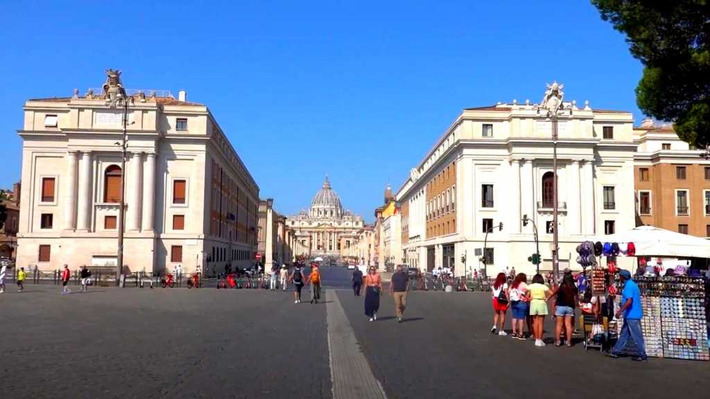 The approach to St. Peter's Square