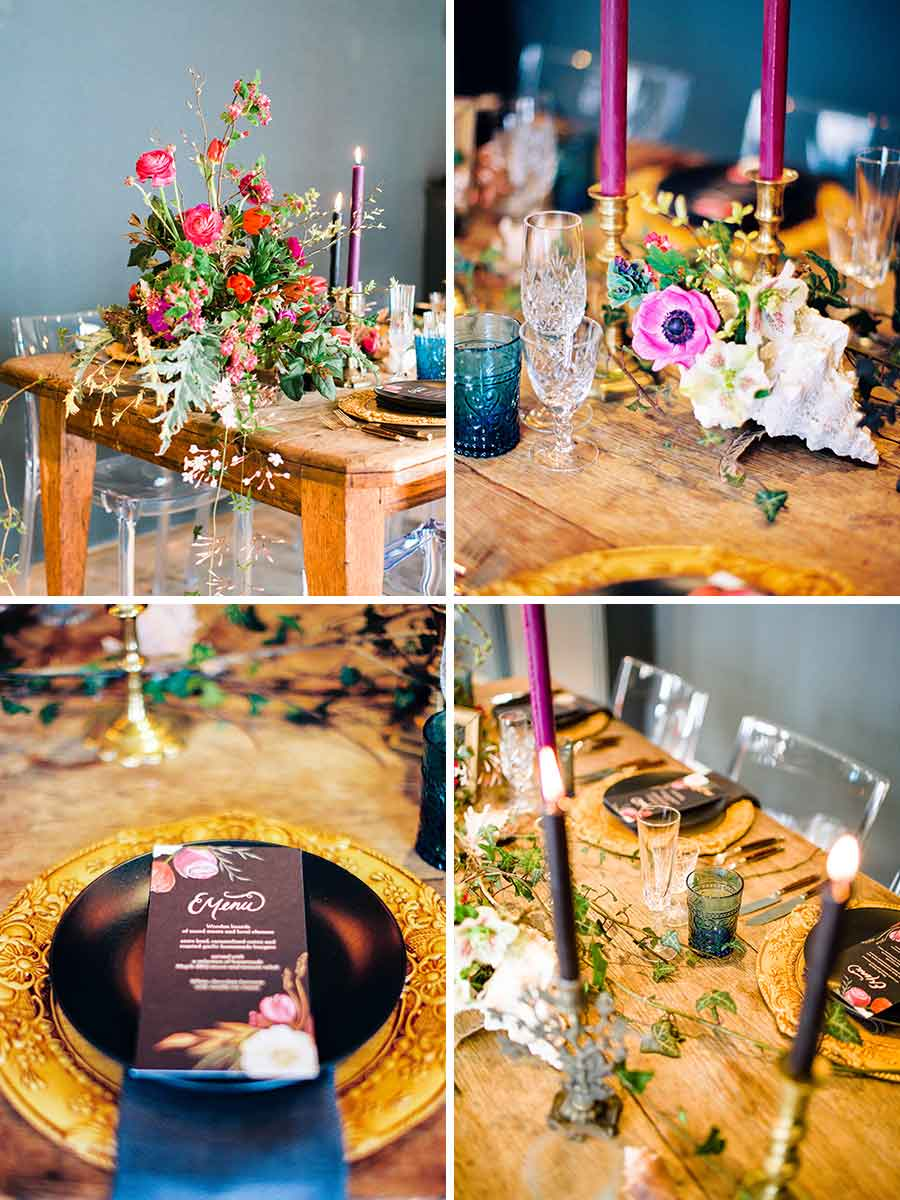 Old Masters inspired wedding styling at The George in Rye