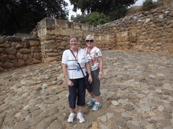 Mom and I at the archeological site
