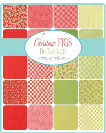Christmas Fabric Figs by Moda Layer Cake Red Quilting Cotton Quilt ...