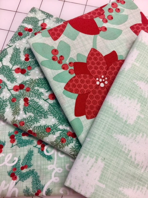 Christmas Fabric Green Quilt Fabric By The Yard Fat Quarter Cotton