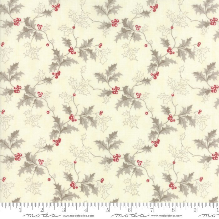 Off White Floral Quilt Fabric By The Yard Holly Woods 44172 11 3