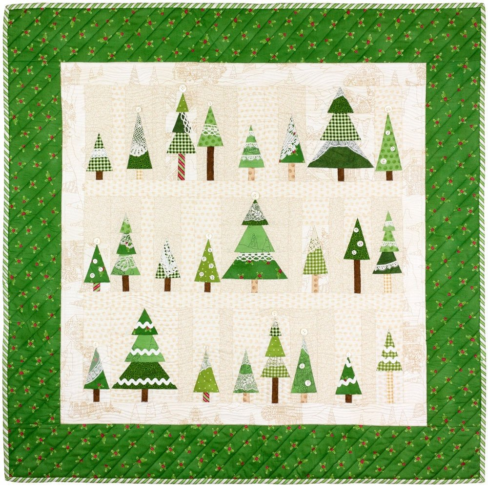 Frostys Tree Farm Christmas Quilt Pattern by Crabapple Hill Paper ...