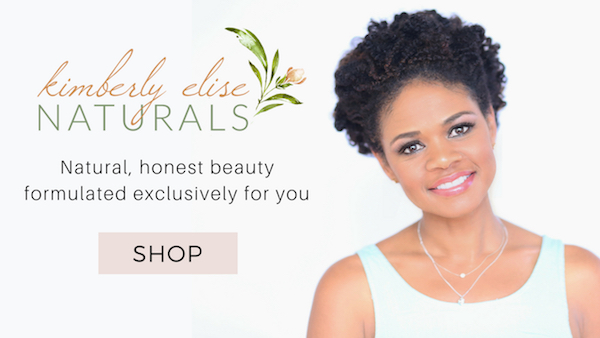 Kimberly Elise Naturals black hair care ad