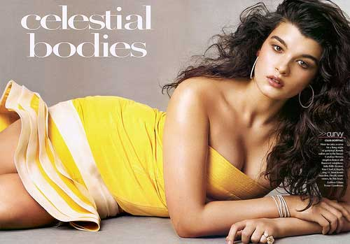 plus-size model Crystal Renn