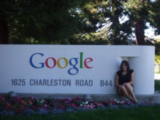Kim Wallace at Google Headquarters in Mountain View, California