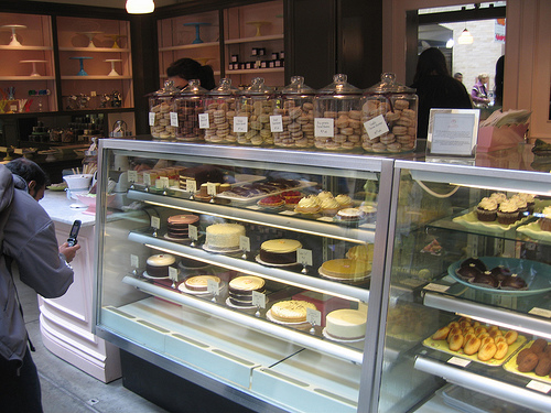 Miette Patisserie Cake and Cupcake Display