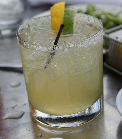 margarita with lemon and lime