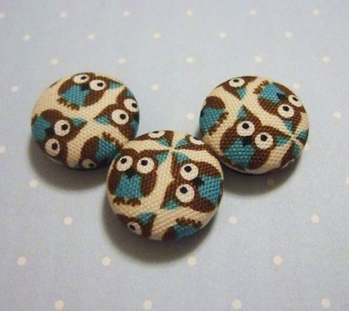 tiny turquoise owl magnets