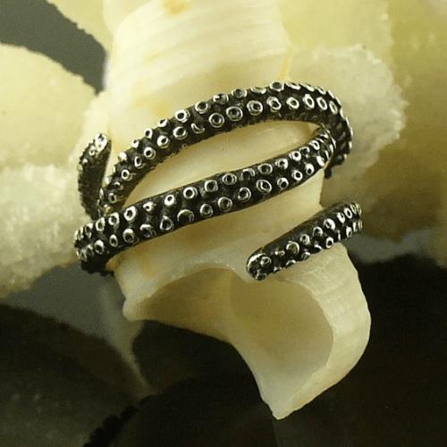 tentacle stacker rings octopusme etsy