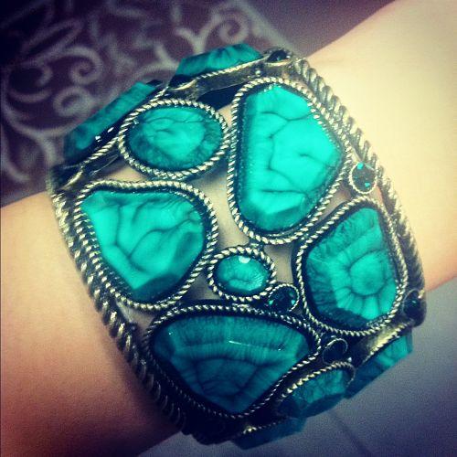 turquoise green bracelet from inspire boutique olathe kansas