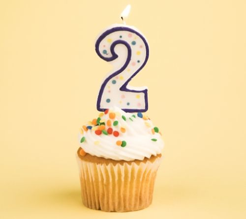 second birthday cupcake