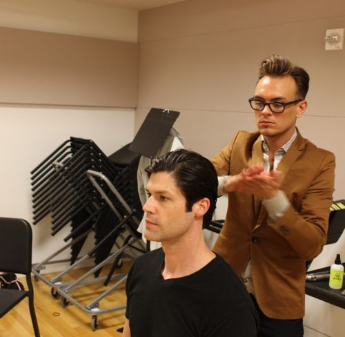 backstage men's hair at fashion for a cause kansas city