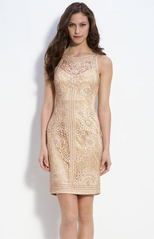 sue wong beige dress