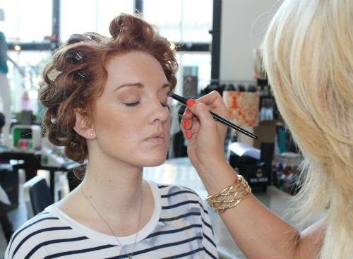 makeup application by reveau salon and spa