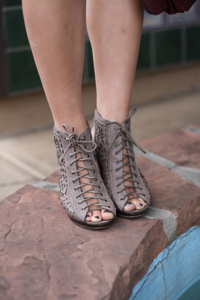 lace-up booties @kimberlyloc