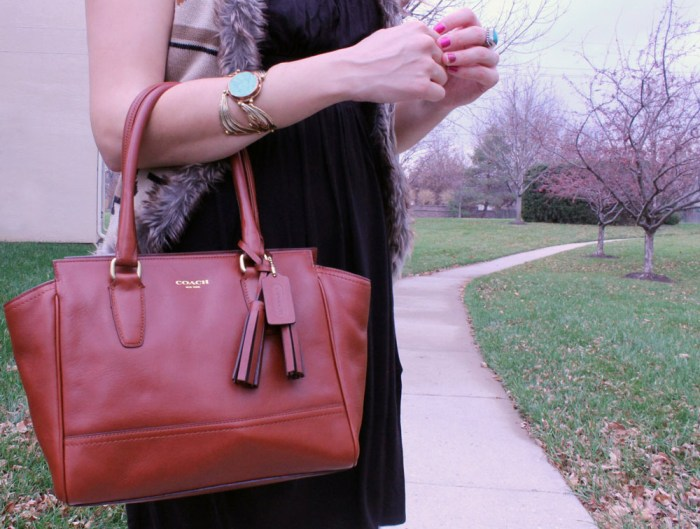 coach legacy leather bag in cognac