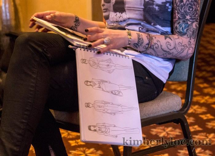 kansas city fashion week designer tiffany of haus of donna faye sketchbook