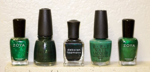 emerald nail polish from deborah lippman zoya china glaze OPI