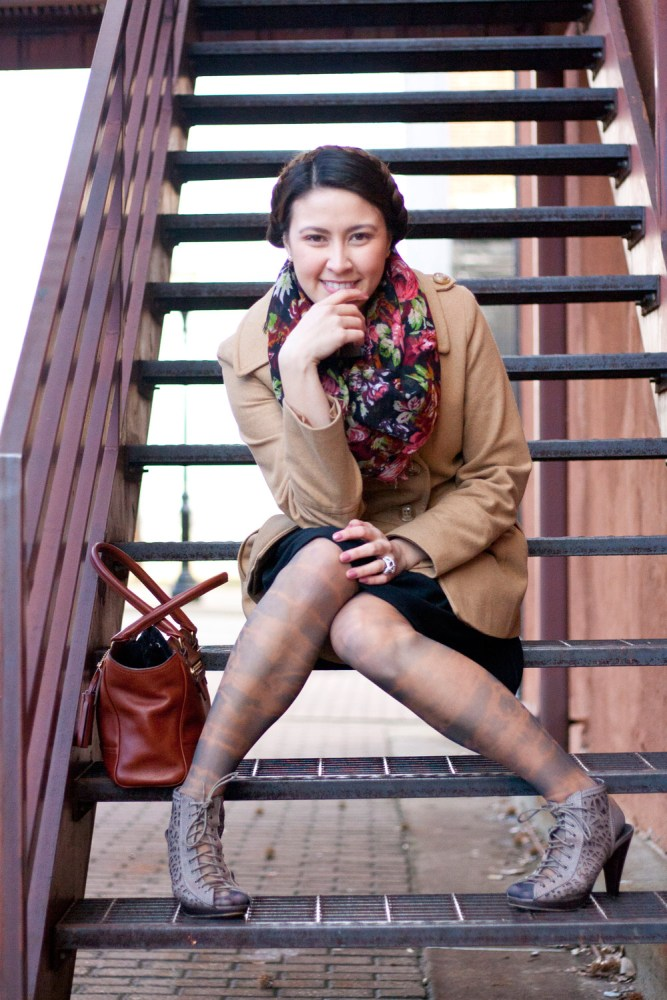 kimberlyloc rose scarf dyed tights