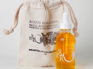 roots rose radish citrus face oil cleanser