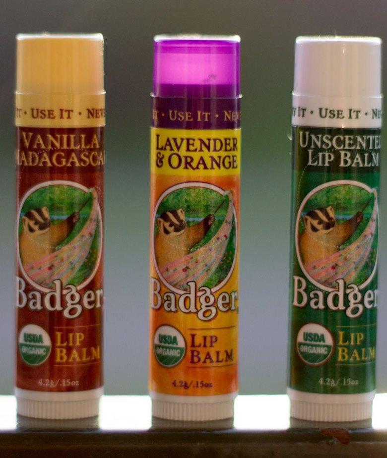badger balm usda organic lip balm