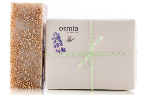 osmia organics lemon basil ginger organic soap