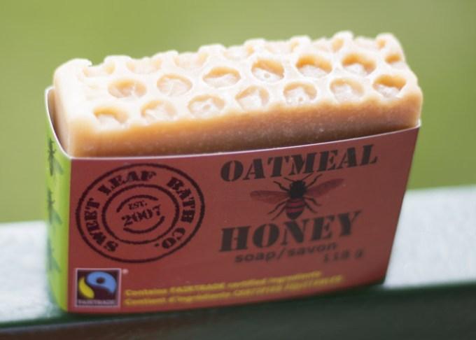 sweet leaf bath co oatmeal honey soap canada