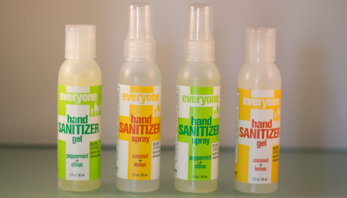 eo everyone hand sanitizer sprays and gels
