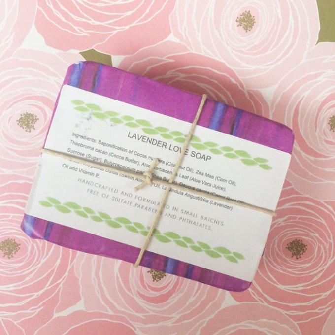 jacq's organics lavender love soap bar