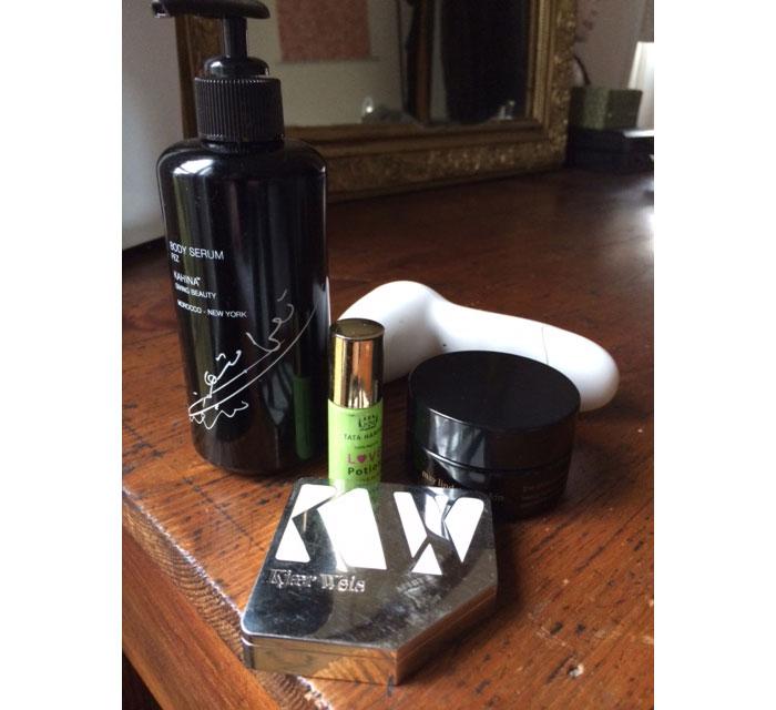 inside kirsten kjaer weis' makeup bag