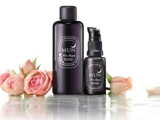mun no. 1 aknari serum & no. 11 anarose toner