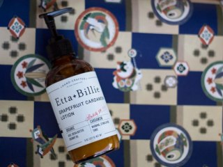 etta + billie grapefruit and cardamom body lotion