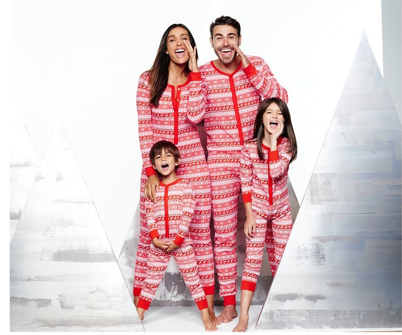 red_striped_family_pajamas fairisle family pajama collection - Cheap Family Christmas Pajamas