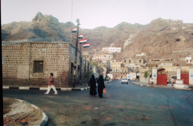 A street in Crater, a neighborhood in Yemen, named for its location in the crater of a dormant volcano.